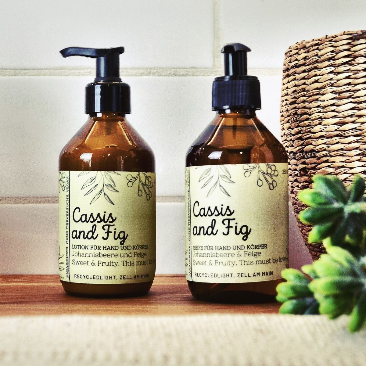 Seife und Lotion Cassis and Fig