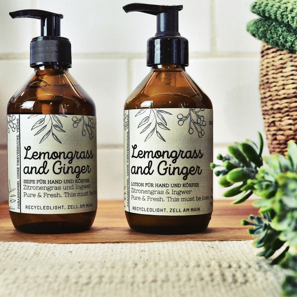 Seife und Lotion Lemongrass and Ginger